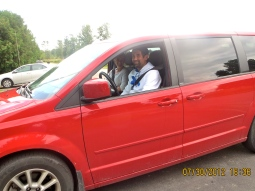 ha ha! Matt driving a mini van!