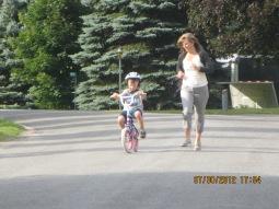 Griffin biking on his own!!!