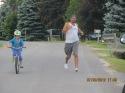 Matt racing Olivia and mid run