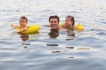 Sean and kiddos lovin the water